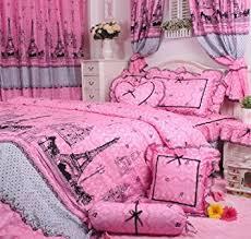 Girls Bedding Sets by Amazon Com Cliab Pink Paris Bedding Twin Size Girls Bedding Set