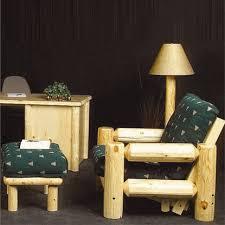 northwoods pine log futon chair