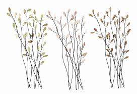 metal branch wall art shenra com trio of branches floral metal wall art