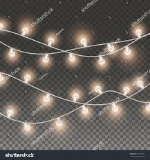 Bulb Lights String by Lights String Elements Isolated On Transparent Stock Vector