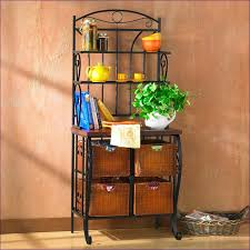 Corner Bakers Rack With Storage Kitchen Room Wonderful Racks For The Kitchen Wooden Bread Rack