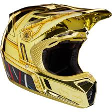 fox helmet motocross fox racing v3 c 3po limited edition helmet motocross foxracing com