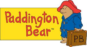 linen paddington bear sitting small red u0026 blue