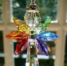 rainbow angel swarovski crystal suncatcher rainbow wings