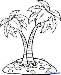 coloring pictures of a palm tree coconut tree coloring coconut palm tree coloring page pages free
