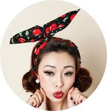 1950s headband 1950s women vintage cherry polka dot pinup rockabilly hair