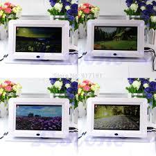 2018 7 tft lcd digital alarm clock light flashing photo movies