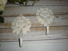 Shabby Chic Coat Hangers by Purple Cast Iron Key Holder Cottage Shabby Chic Distressed