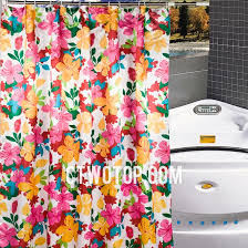 Multi Color Curtains Color Floral Beautiful Satin Affordable Shower Curtains