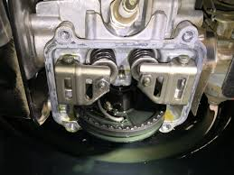 impact to cylinder head cover while running backfired to a halt