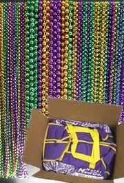 mardi gras throws wholesale purple green gold float rider big throw bead mix