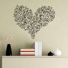 online buy wholesale vintage pattern wall stickers from china flowers heart shaped beautiful pattern wall stickers vintage design home decor vinyl self adhesive wall art