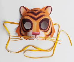 easy printable tiger mask animal mask templates