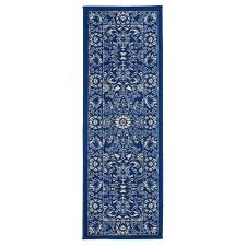 anne collection oriental mahal design navy and ivory 2 ft 2in x