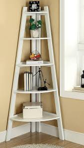 Corner Ladder Bookcase Furniture Of America 5 Tier Corner Ladder Display Bookcase