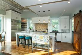 pleasing island overhang kitchen farmhouse with turquoise blue