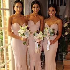 summer bridesmaid gowns beach bridesmaid dress strapless