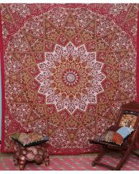 psychedelic indian tapestry vintage wall hanging
