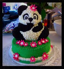 panda with cherry blossom baby shower cake baby shower cakes