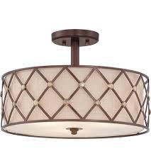 copper flush mount light quoizel bwl1717cc brown lattice 3 light 17 inch copper canyon semi