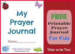 free printable prayer journal for kids water on the floor