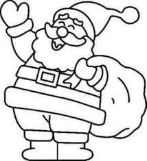 coloring page of santa aecost net aecost net