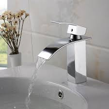 Bathroom Contemporary Waterfall Faucets With Stylish Design For - Designer bathroom fixtures