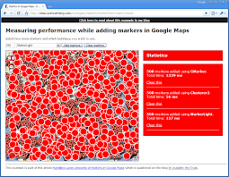 Map Performance Handling Large Amounts Of Markers In Google Maps In Usability We