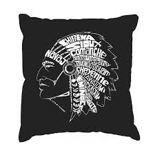 throw pillow cover word art popular native american indian