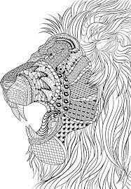 printable lion mandala coloring pages mediafoxstudio com