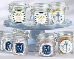 favor jars personalized glass favor jars kate s nautical wedding collection
