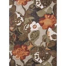 Modern Floral Area Rugs Jaipur Rugs Modern Floral Pattern Brown Orange Wool Area Rug Bl12