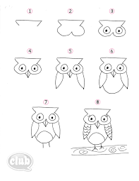 amazing step by step owl drawing 35 for your with step by step owl