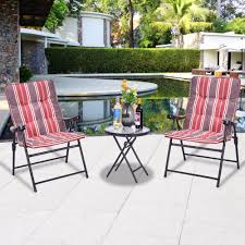 Padded Lawn Chairs Practically Outdoor Folding Chairs