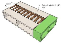 Platform Bed W Storage Plans by Diy Platform Bed With Storage How To Build A Twin Size Platform