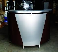 Black Reception Desk Pibbs Reception Desk Curved 60x42 Black W Silver Accent 5031
