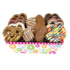 gourmet chocolate gift baskets pretzel party gourmet chocolate covered treats gift basket great