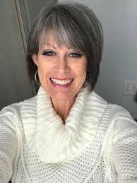 hairstyles for gray hair women over 55 gorgeous salt and pepper short hair style gray hair styles