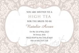 shower invitations vintage floral high tea invitation