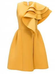 yellow dress yellow 2xl ruffle sleeveless cocktail dress rosegal