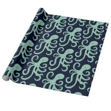 octopus wrapping paper sea octopus wrapping paper sea
