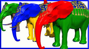 elephant colors colorful song collection u0026 many more learn colors