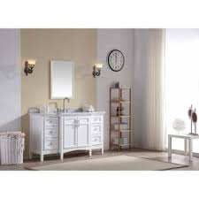 Kitchen And Bathroom Brittany 60 Inch Single Vanity Cabinet Cottage White Free