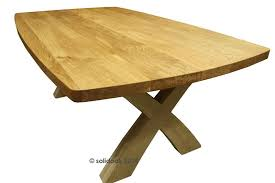 X Leg Dining Table Made To Measure Solid Oak X Leg Dining Table From Solidoak Dining