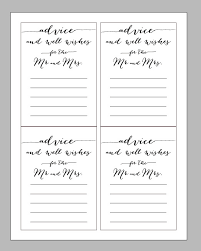 advice cards for printable digital wedding advice card wisdom and wishes marriage