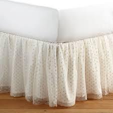 White Bed Skirt Queen The Emily U0026 Meritt Tulle Tutu Bedskirt Pbteen