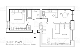 house layout architectural plan of a house layout of the apartment top view