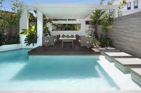 pool area ideas bella vista nsw residential landscape project rolling stone