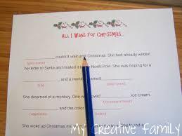 Thanksgiving Madlib Christmas Word Games Creative Family Fun