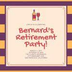 retirement invite template free printable retirement party